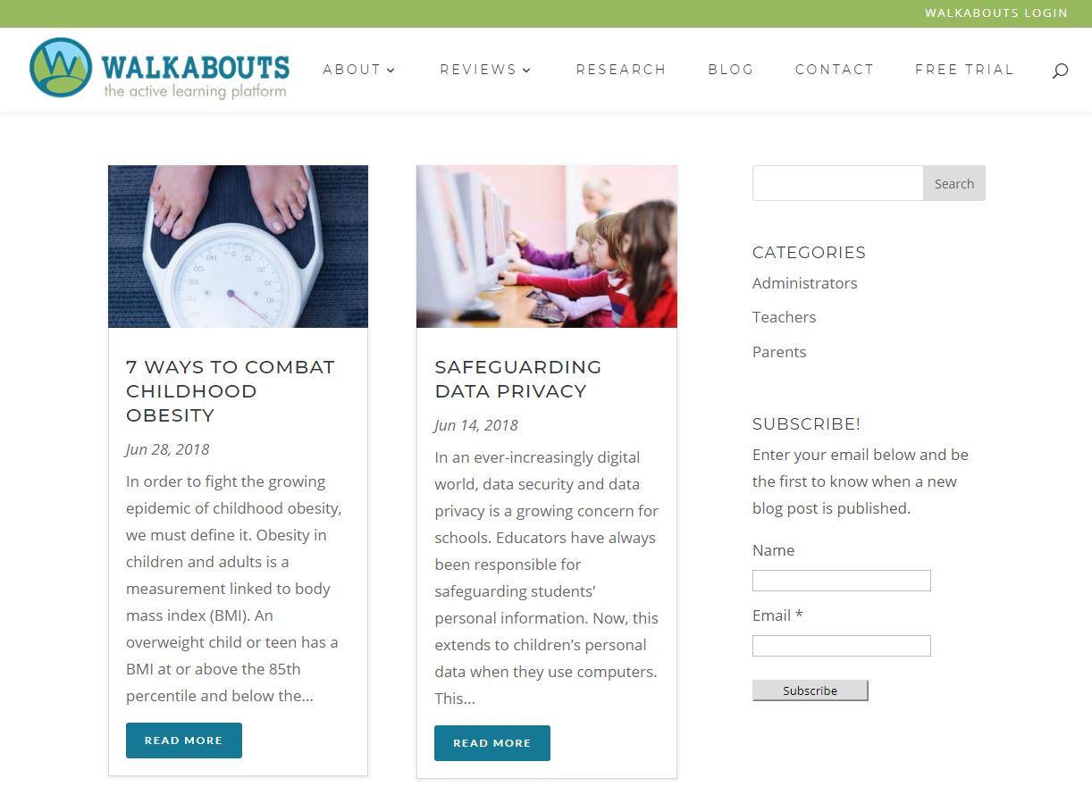 Get Walkabouts blog screenshot