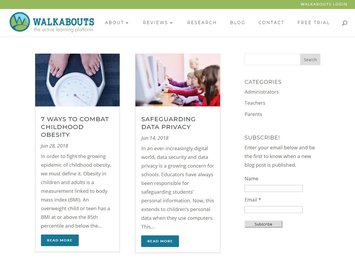 Get Walkabouts blog screenshot